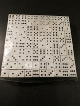 "WHOLESALE LOT OF 200 White dice black PIPS 6 SIDED D6 DIE GAME SIX 3/4"" - $24.75"