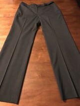 Ann Taylor Women's Pants Margo Charcoal Gray Fully Lined Size 8 X 32 - $18.81