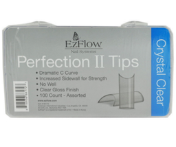 EzFlow Perfection II Crystal Clear Tips, 100 Pack