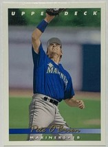 1993 Upper Deck #627 Pete O'Brien Seattle Mariners Baseball Card - $2.44