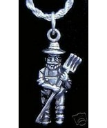 SALE Old Mcdonald Charm Silver Farmer and the dell Jewelry - $17.20
