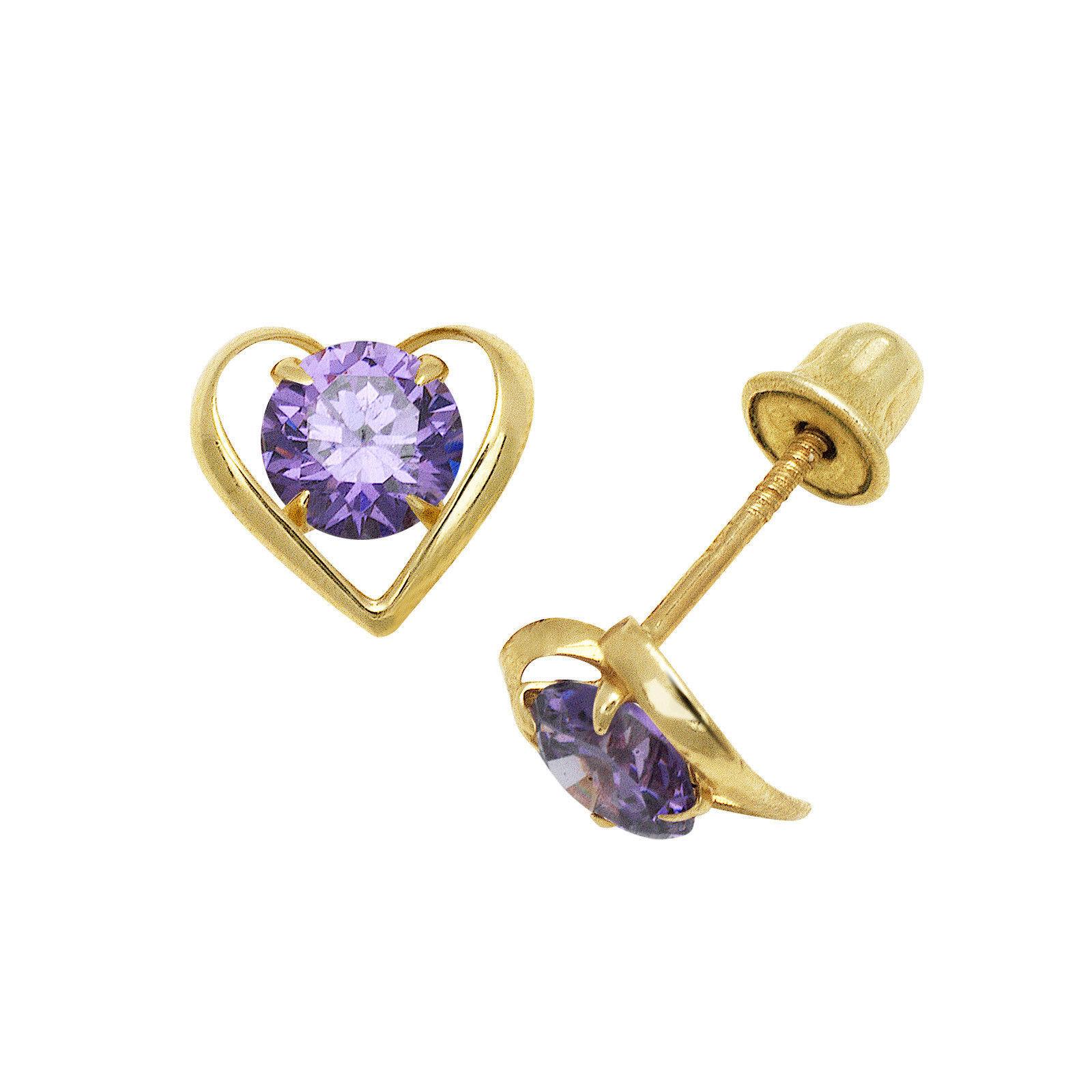 Blau & Weiss Saphir Herz & Blumen Stecker Ohrringe Schrauben Rückseite 14k Gold Echtschmuck