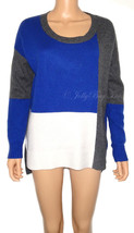DEREK LAM Luxe Cashmere Women's Sweater Colorblocked Athleta Pullover Si... - $89.10
