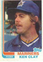 1982 Topps Ken Clay Seattle Mariners #649 Baseball Card - $1.97
