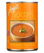 Amy's Organic Golden Lentil Soup, 14.4 oz Can Case of 12 vegan, Indian Dal - $56.99