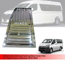 Chrome Fuel Filler Gas Tank Cap Cover For Toyota Hiace Commuter 2019 2020 - $29.61