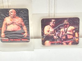 2 WWF WWE  Borden Titan Sports Tag Team of the Century 1988 Cards Stickers 23137 image 2