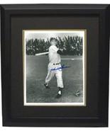 Hank Bauer signed New York Yankees Vintage B&W 8x10 Photo Custom Framed ... - $79.00