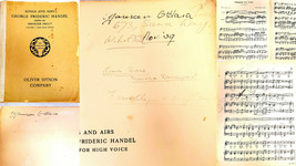 Maureen O'Hara Twice Signed Personally Owned Used + Notated 1905 Song Book - $1,385.99