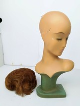 Antique German Art Deco Mannequin head wig stand Bauhaus Mid Century Décor - $400.00