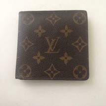 Authentic Louis Vuitton Brown Mono Mens Wallet 4in x 4in (CA0976) - $237.45