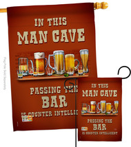 Man Cave Passing the Bar - Impressions Decorative Flags Set S117045-BO - $57.97
