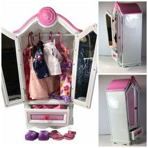 "Battat Our Generation 18 "" Doll Armoire Wardrobe Closet W/American Girl Outfits - $34.64"