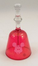 Walt Disney Productions Ruby Cut to Clear Mickey Mouse Face Crystal Glas... - $20.44