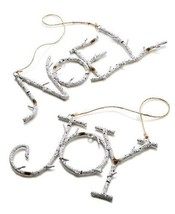Holiday Lane 'Noel' & 'Joy' Metal Birch Branch Christmas Ornaments, Set ... - $23.90
