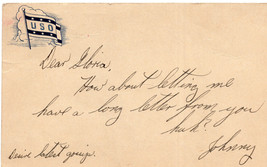 "10/08/1943 WWII WW II USO POST CARD FROM JOHNNY TO GLORIA ""HOW ABOUT LET... - $9.99"