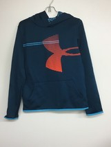 Under Armour Loose Youth Dark Teal/Orange Pull Over Hoodie sz YXL. NWOT - $19.34
