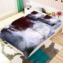 3D Sea Moon 08 Bed Pillowcases Quilt Duvet Cover Set Single Queen King Size AU - $90.04+