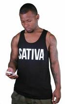 Dope Couture Noir ou Blanc Sativa Weed Marijuana Débardeur Muscle Chemise