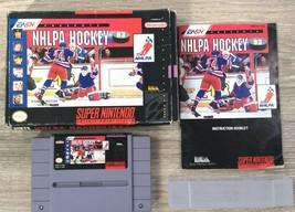 NHLPA Hockey 93 (Super Nintendo Entertainment System, 1992) SNES CiB com... - $20.46