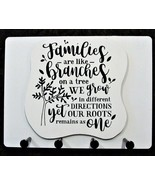 """Wall Mounted Keychain Holder Rack  - """"Families are like Branches on a Tr... - $18.95"""
