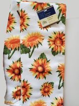 Sunflower Kitchen Linens Set, 9pc, Placemats Towels Potholders Mitt Yellow Green image 6
