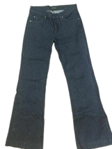 $225 NWOT DRY AGED JAMES JEANS STRIPED DARK BLUE BOOT CUT JEANS - 27 - $69.99