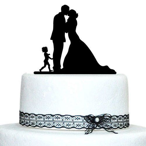 Buythrow® Family Wedding Cake Topper With Little Boy Bride And Groom