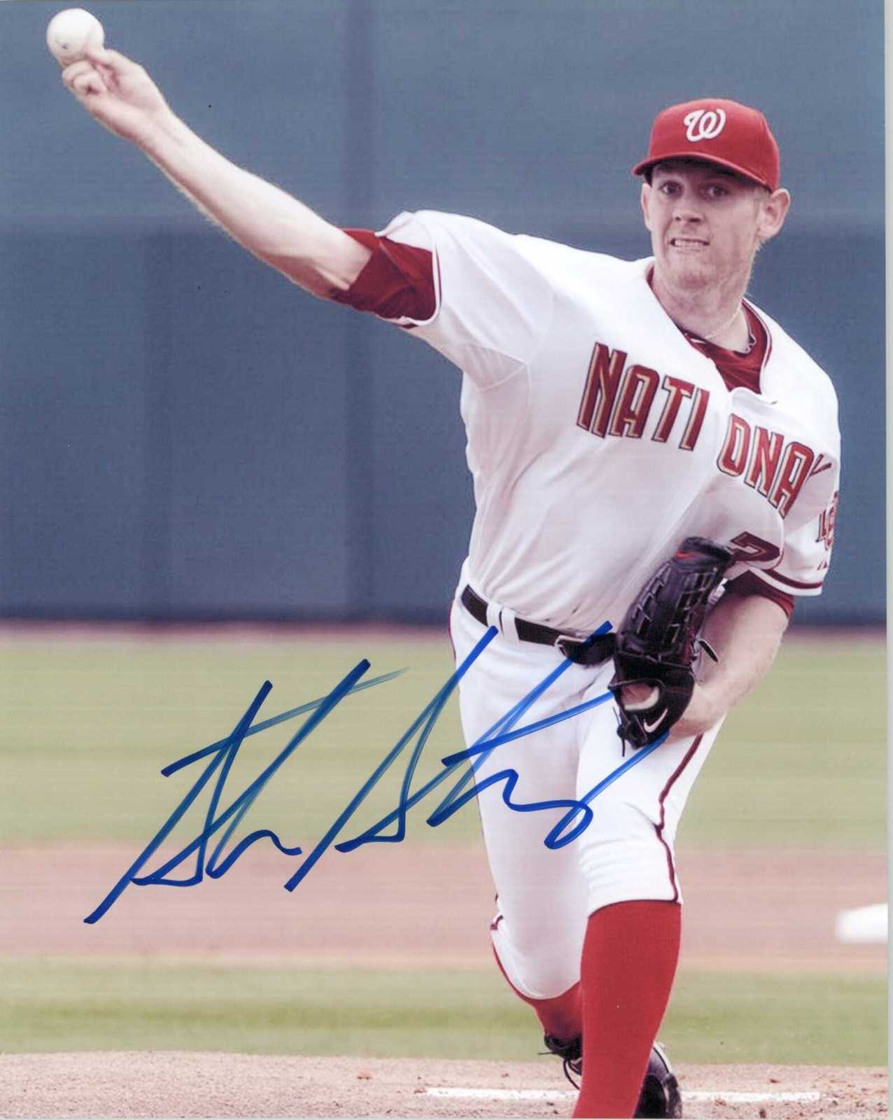 Primary image for Stephen Strasburg Signed Autographed Glossy 8x10 Photo - Washington Nationals