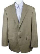 Lauren Ralph Lauren Sport Coat Blazer Size 44L Tan Graph Check Wool Blen... - $33.50