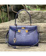 Tory Burch Small Lee Radziwill Embossed Leather Satchel - $579.60