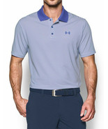 NEW MENS UNDER ARMOUR PERFORMANCE BLUE STRIPED GOLF POLO SHIRT S - $39.59