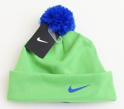 Nike Green Cuff Beanie Skull Cap with Pom Pom Youth Boy's 8-20 NWT - $25.98