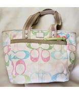 Coach Hampton Pastel Signature Scribble Tote Bag M05K-247 - $24.75