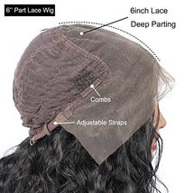 vvBing 6inch Lace Deep Parting Hair Wig Short Bob Lace Front Wig Synthetic 2 Ton image 6