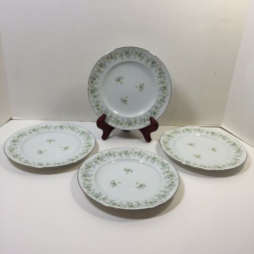 "Primary image for 4 Salad Plates 7.75"" Forever Spring Johann Haviland Barvaria Germany"