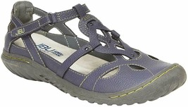 NEW JBU by Jambu Denim Blue Ladies' Sydney Flat Sandals for Women JB19SNY45 image 1