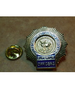 Police Department county of Suffolk NY Superior officer mini badge lapel... - $6.75