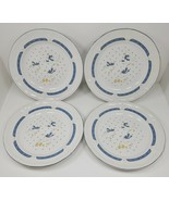 """4 Vintage Home Style Country Goose Geese Stoneware China 10 3/4"""" Plates - $39.97"""