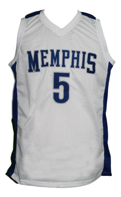 Will barton  5 custom college memphis basketball jersey white   1