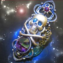 HAUNTED RING ILLUMINATI THE WORLD MASTER POWERS MAGICK HIGHEST LIGHT COL... - $12,097.77