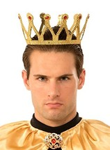 Gold Medieval Royal King Plastic Crown Prince Costume Accessory Adult New - $12.93