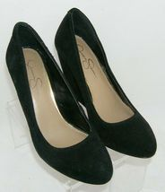 Jessica Simpson 'Amari' black suede amond toe slip on womens wedges 8.5B image 6