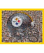 Pittsburgh Steelers Mosaic Print Art Designed Using over 100 of the Best... - $42.00+