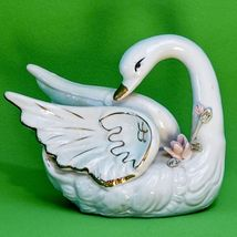 Vintage Porcelain Swan Figurine Marked Made In China - $2.95