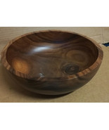 African Marble WOOD BOWL AFRICA Sanded Polished Varnished 36 - $17.30