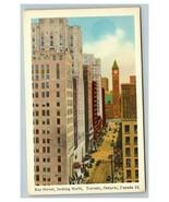 Vintage 1920's Postcard Bay Street Street Scene Toronto Ontario Canada O... - $15.02