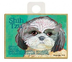 Shih Tzu Proud Happy Peacful Snuggly...  Dog Fridge Kitchen Magnet 2.5x3... - $5.86