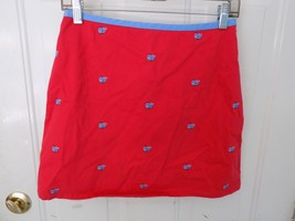 Lands' End  Skort Red with Blue Whales Size 14 Girl's EUC - $18.26
