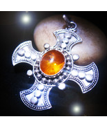 HAUNTED TEMPLAR NECKLACE ROYAL GODS OF GOLD EXTREME BLESSINGS MAGICK 7 S... - $377.77